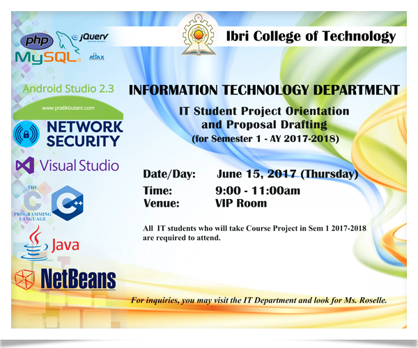 IT Student Project Orientation
