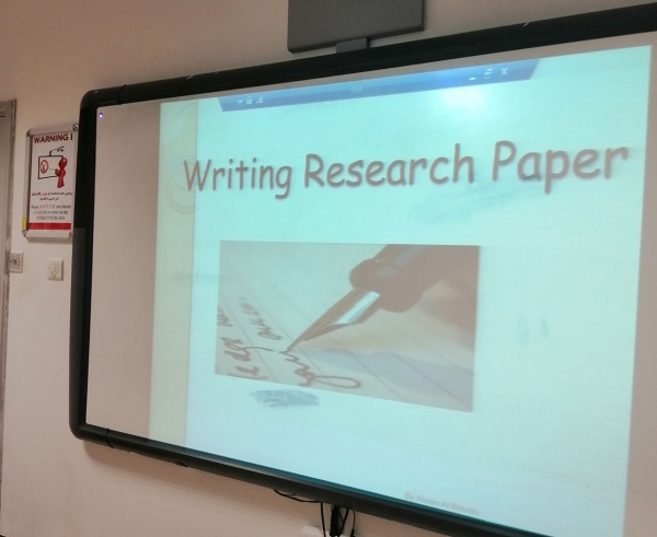 "Seminar on ""Writing Research Paper"
